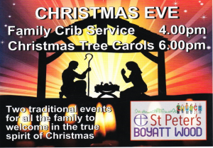 Christmas Eve services at St Peter's